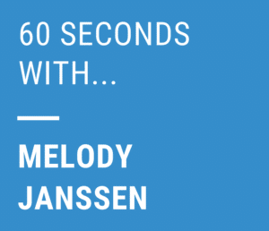 60 seconds with melody janssen
